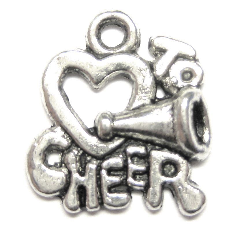 Anhänger für Charms Love to Cheer 16 x 18 mm Metall DIY