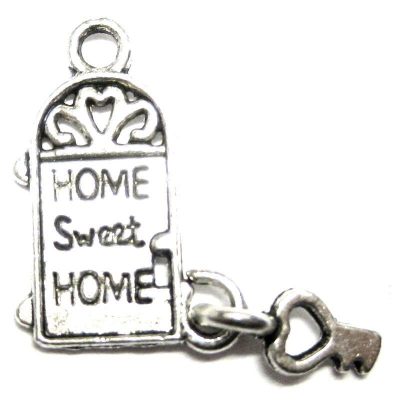 Anhänger für Charms Haustür mit Schlüssel 12 x 17 mm Metall DIY
