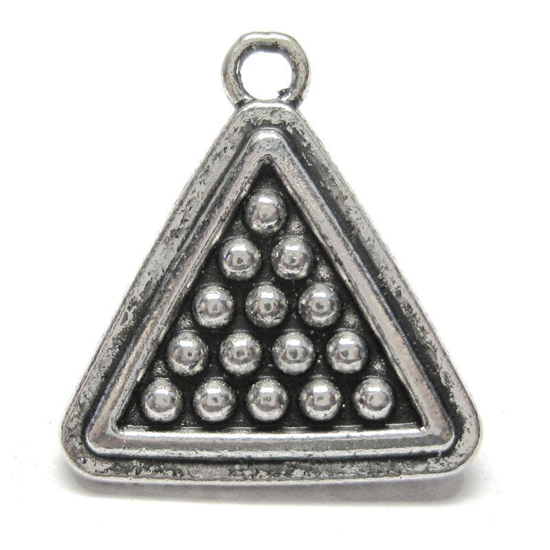 Anhänger Charm Triangel mit Billiardkugeln Metall DIY