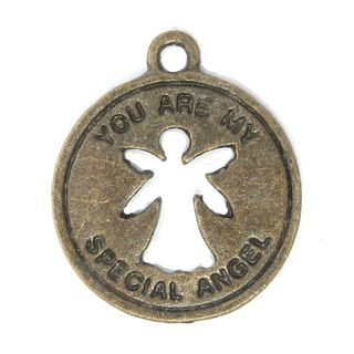 Anhänger Charm You are my Special Angel Metall DIY