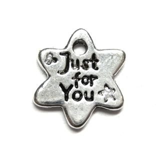 Anhänger Charm Stern Just for you Metall DIY