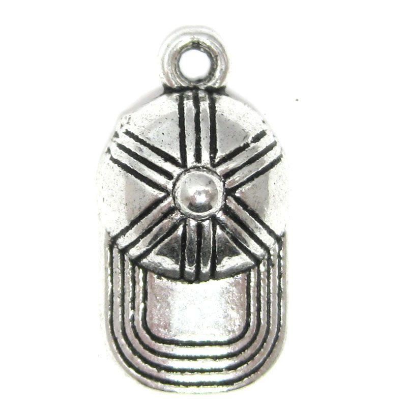 Basecap Cap Cappy Schlüsselanhänger Anhänger Silber aus Metall