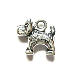 Anhänger Charm Scotch Terrier Hund Westie Metall DIY